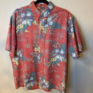 Reyn Spooner Mens Red Hawaiian Shirt